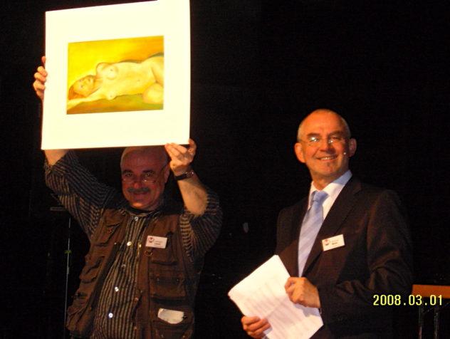 Benefiz-Versteigerung zu Gunsten der TUFA in Trier. Alle Werke waren von den Künstlern gestiftet.